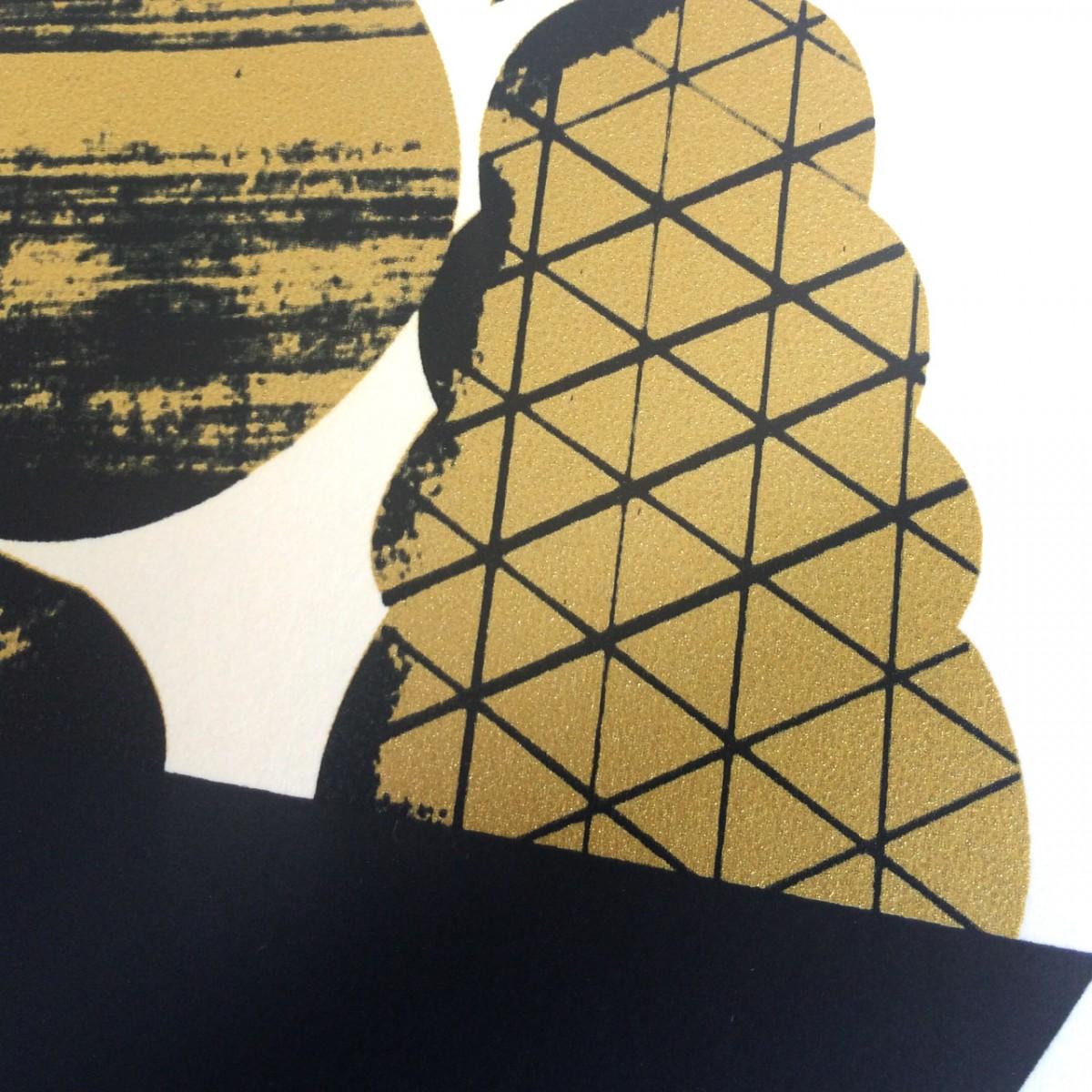 Print now - Riot later Midcentury Fruit bowl Siebdruck