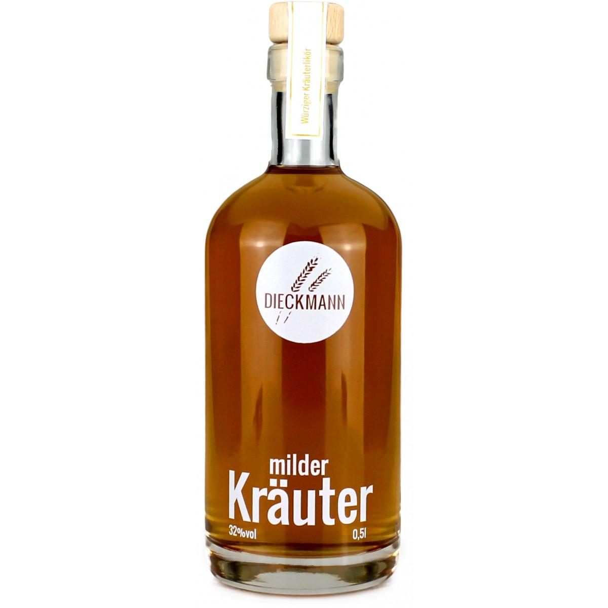 Weizenbrennerei & Likörmanufaktur Dieckmann milder Kräuter - Kräuterlikör LIKÖR 32% vol., 0,5l
