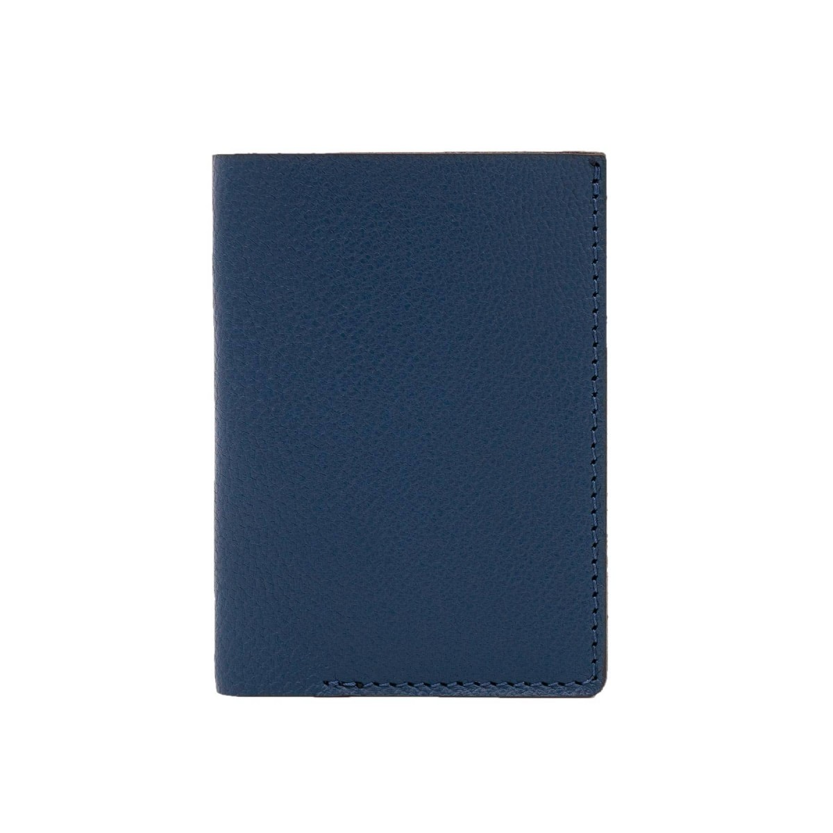 Mini Portemonnaie in marineblau - aus premium pflanzlich gegerbtem Ziegenleder