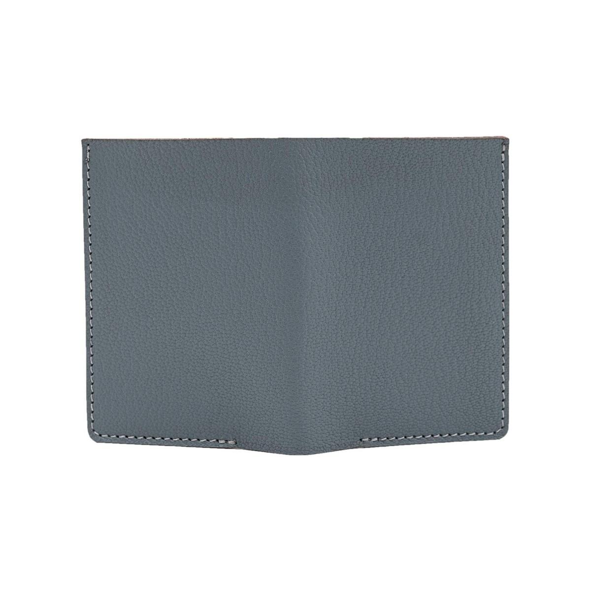 Mini Portemonnaie in grau - aus premium pflanzlich gegerbten Ziegenleder