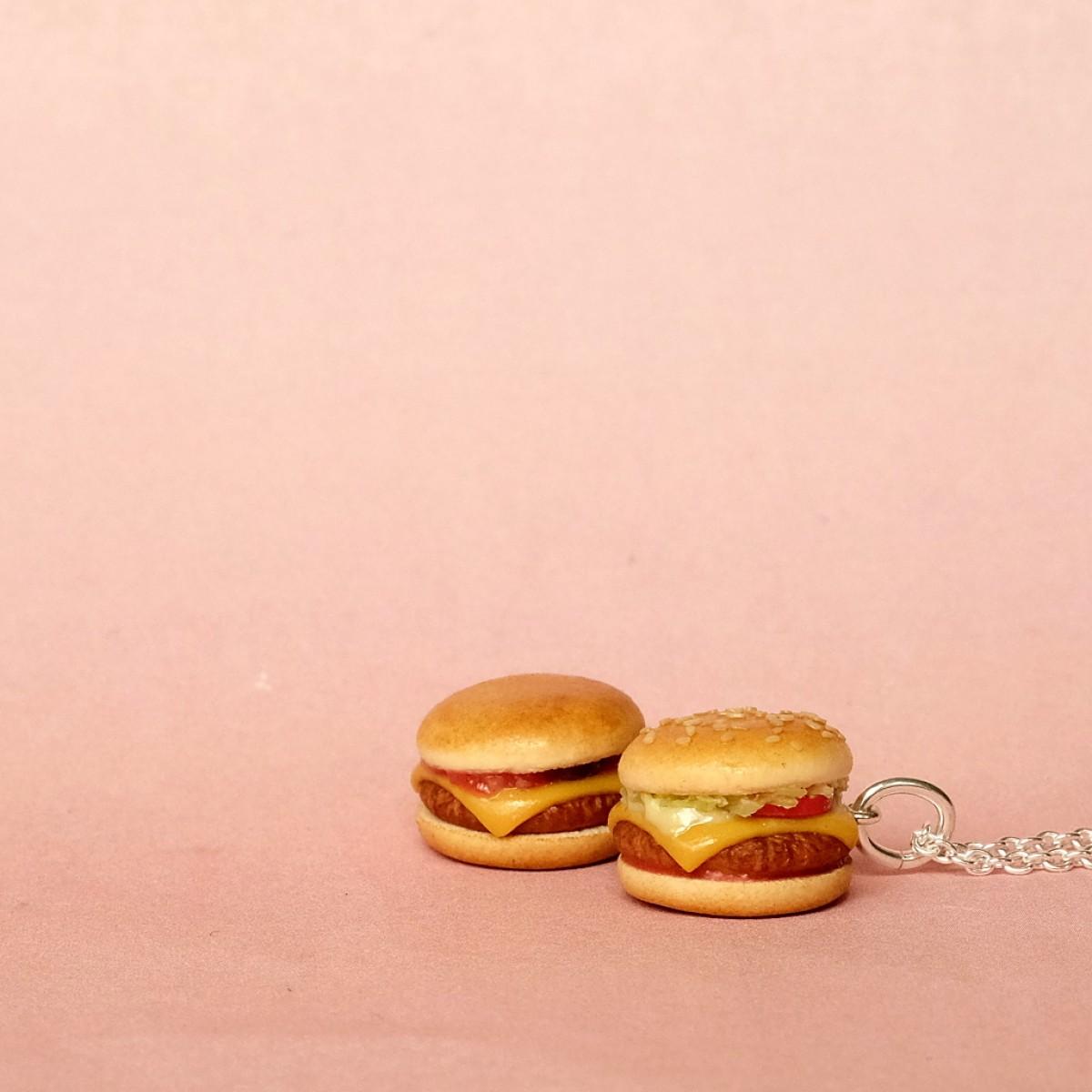 minischmidt miniTONI's Fastfood - Cheesburger & Hamburger Lederkette