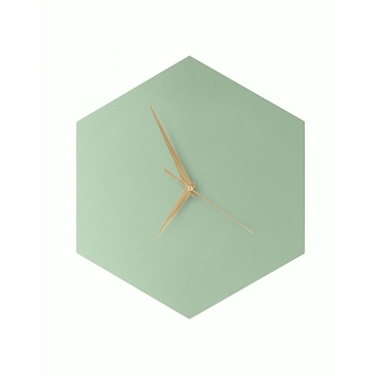 WOOD U? WATCH - Wanduhr mit schicker Linoleumoberfläche - Mint