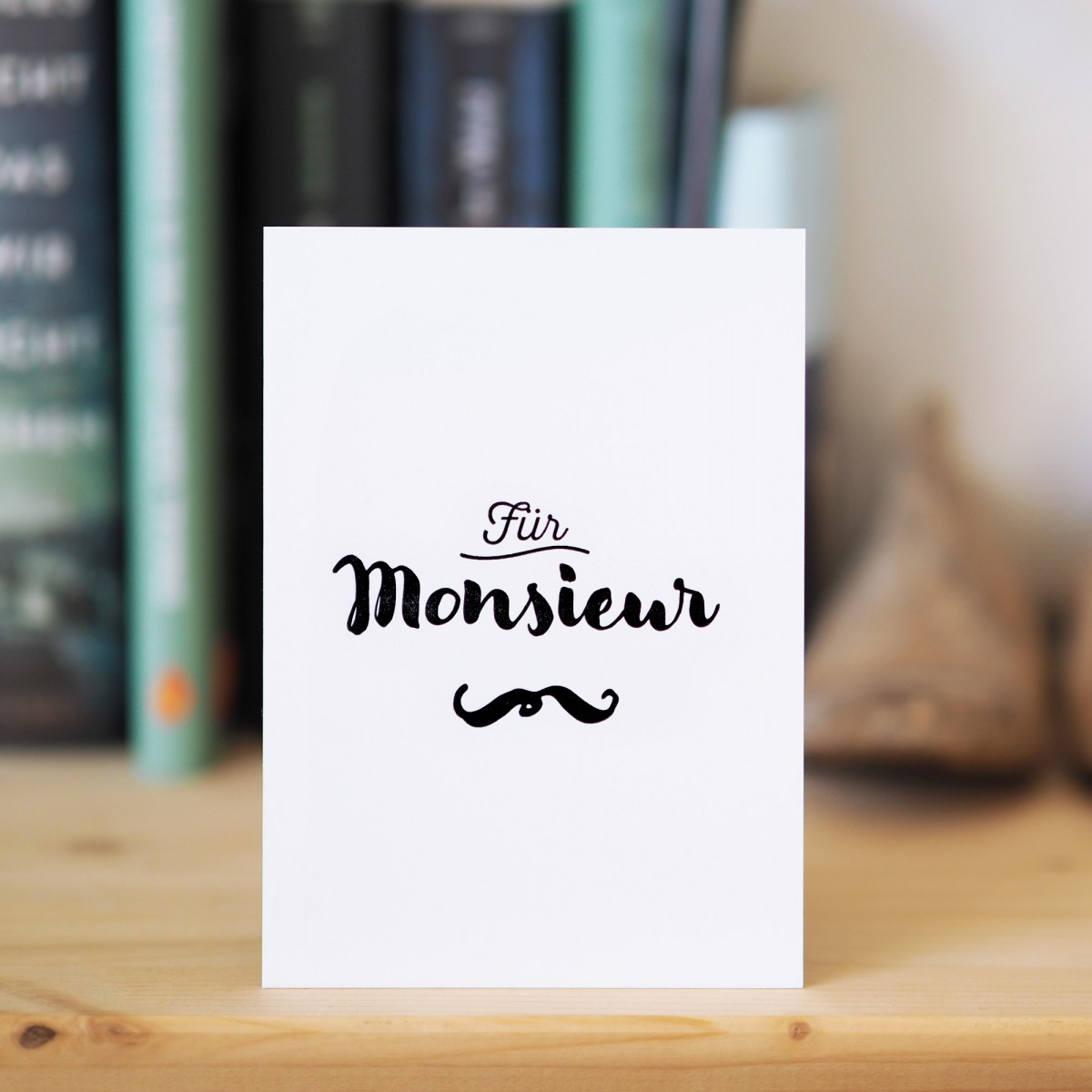 finicrafts Monsieur Letterpress-Postkarte