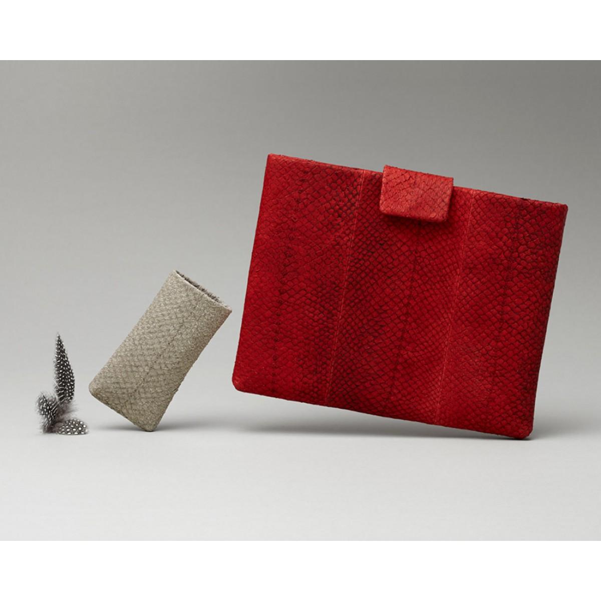 Lapàporter iPad case Lachsleder, rot