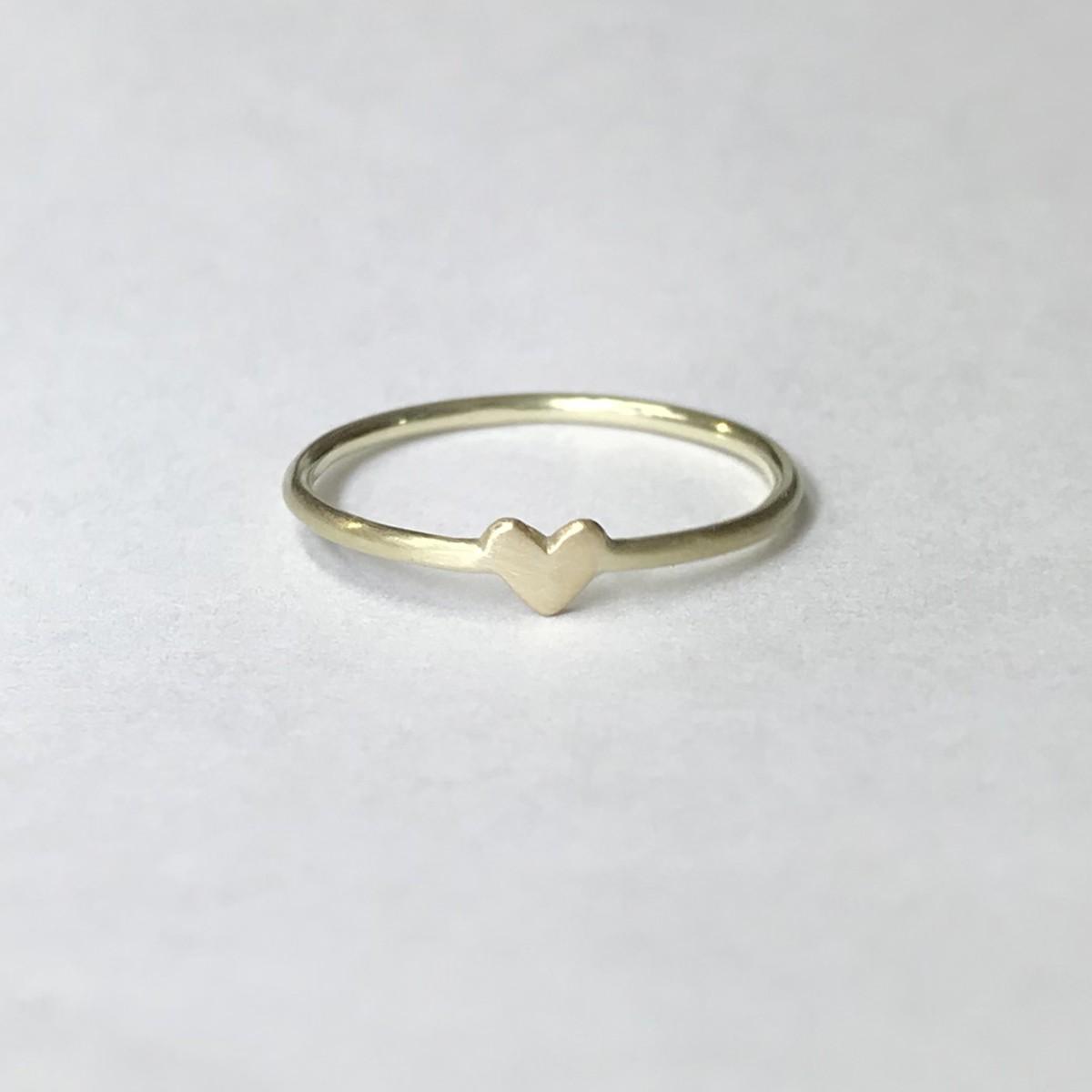 """M WIE MARIANNE Herzring """"Erste Liebe"""" aus 585er Gold"""