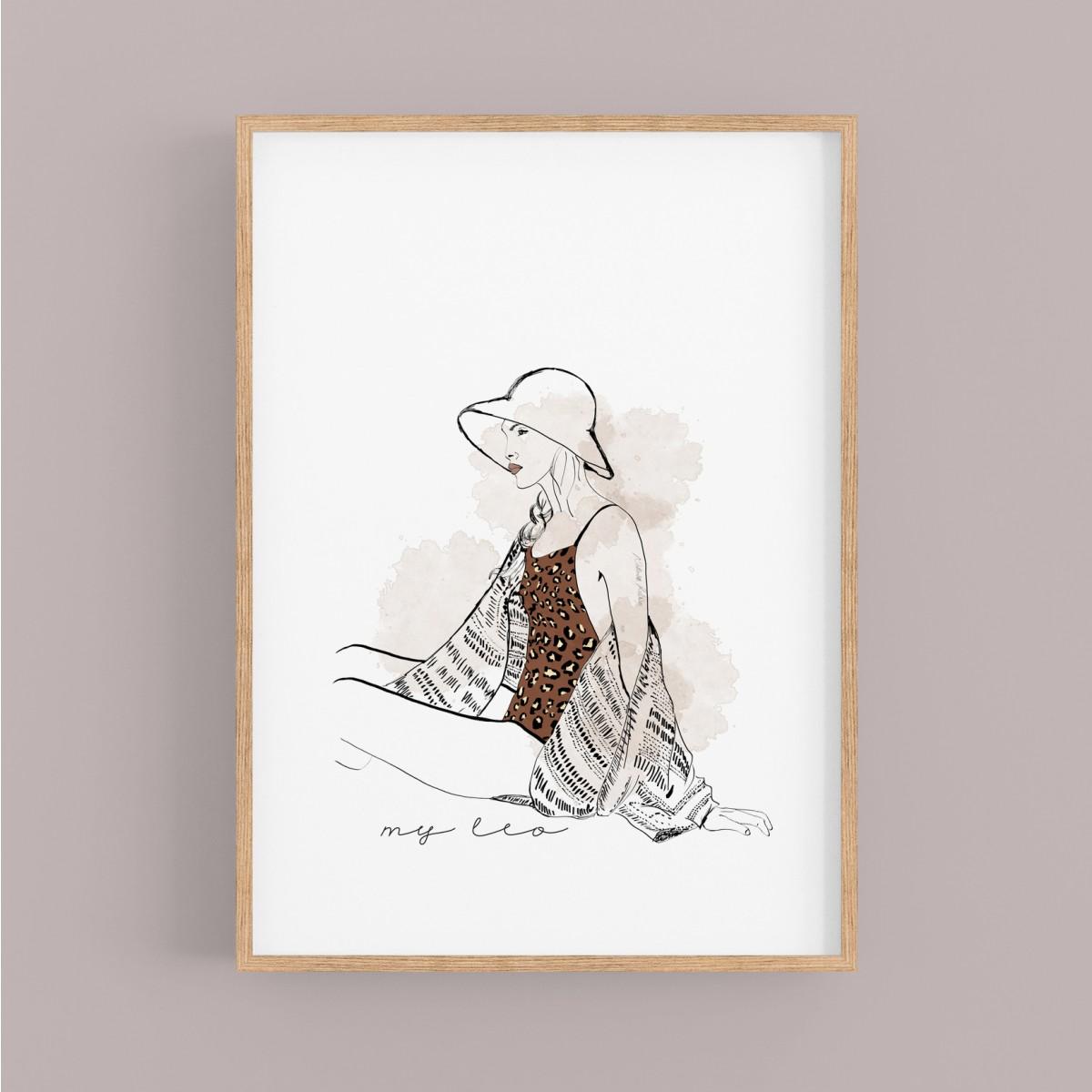 """nathys illustration """"my leo"""""""
