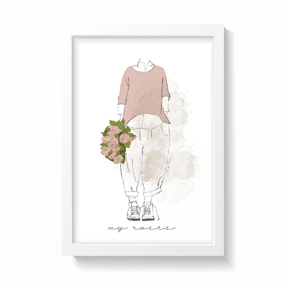 "nathys illustration ""my roses"""