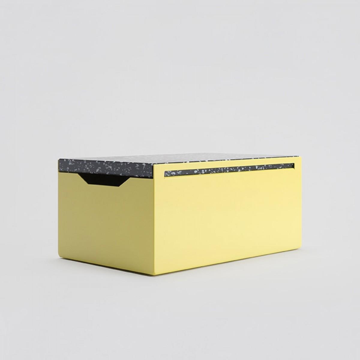 BREAD BOX / Brotkasten aus Stahlblech (Stracciatella Edition)