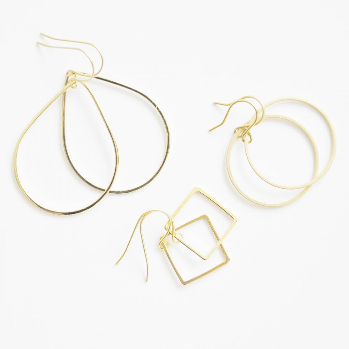 na.hili  Als Vorlage verwenden na.hili OHRRINGE - Stäbchen - Weißgold oder Gelbgold
