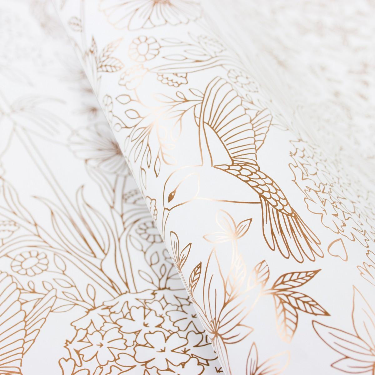 Bow & Hummingbird Geschenkpapier Flower Garden