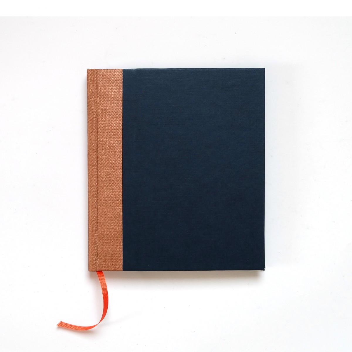 Nauli Poesiealbum - Tagebuch kupfer nachtblau