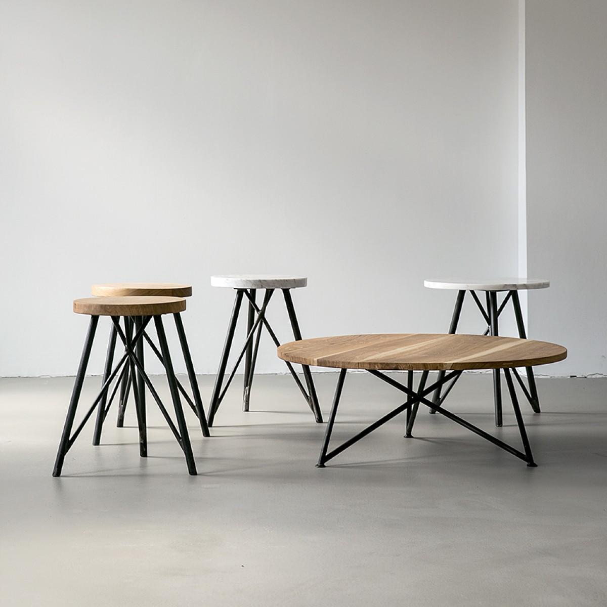 NUTSANDWOODS Side Table Marmor