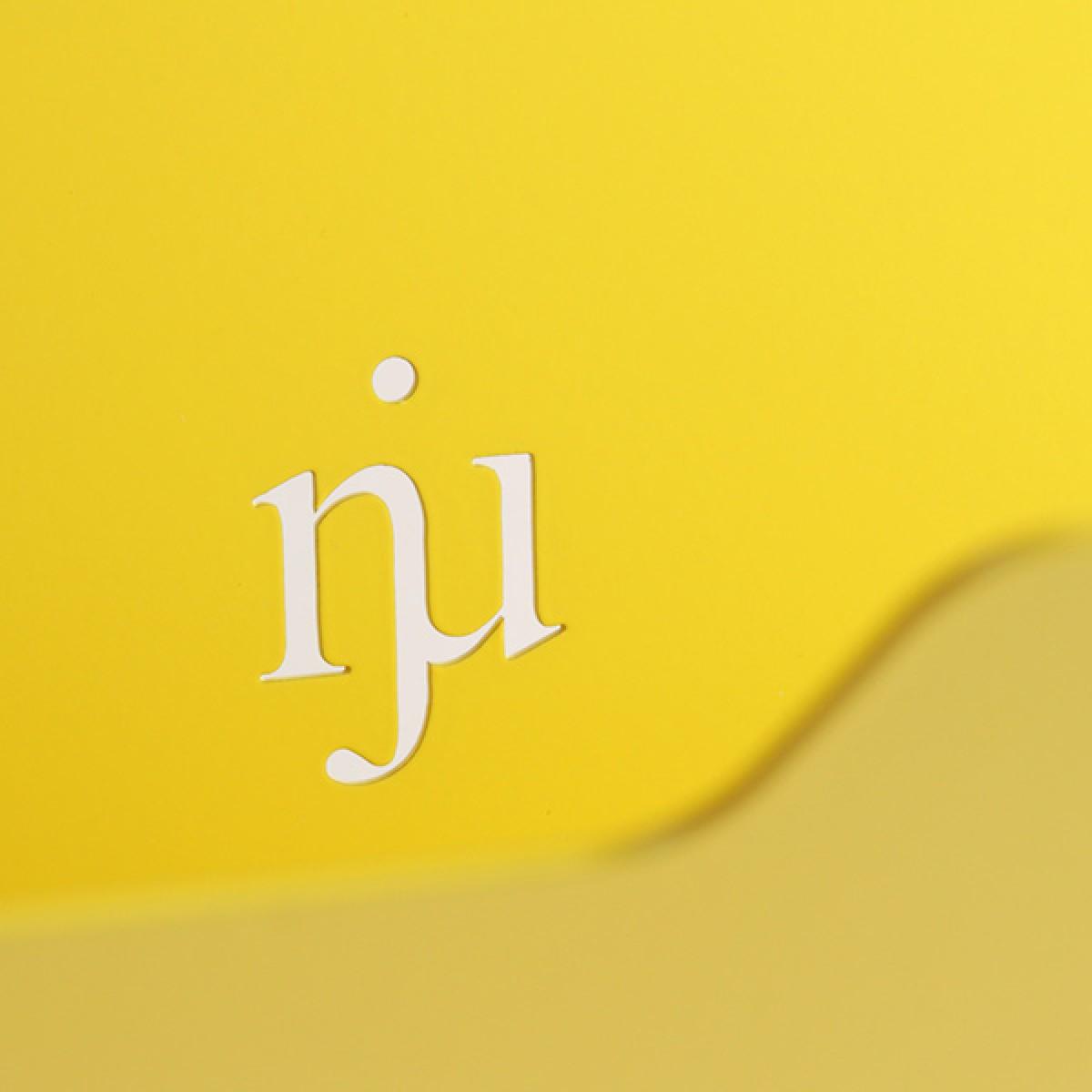 Njustudio Neuer Ordner Mini (gelb, einzeln oder im 3er-Set)