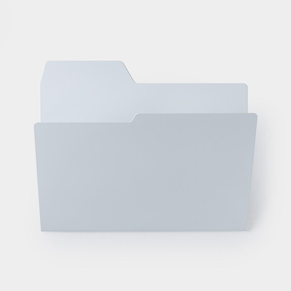 Njustudio Neuer Ordner Mappen-/Zeitschriftenhalter (DIN A4, grau)