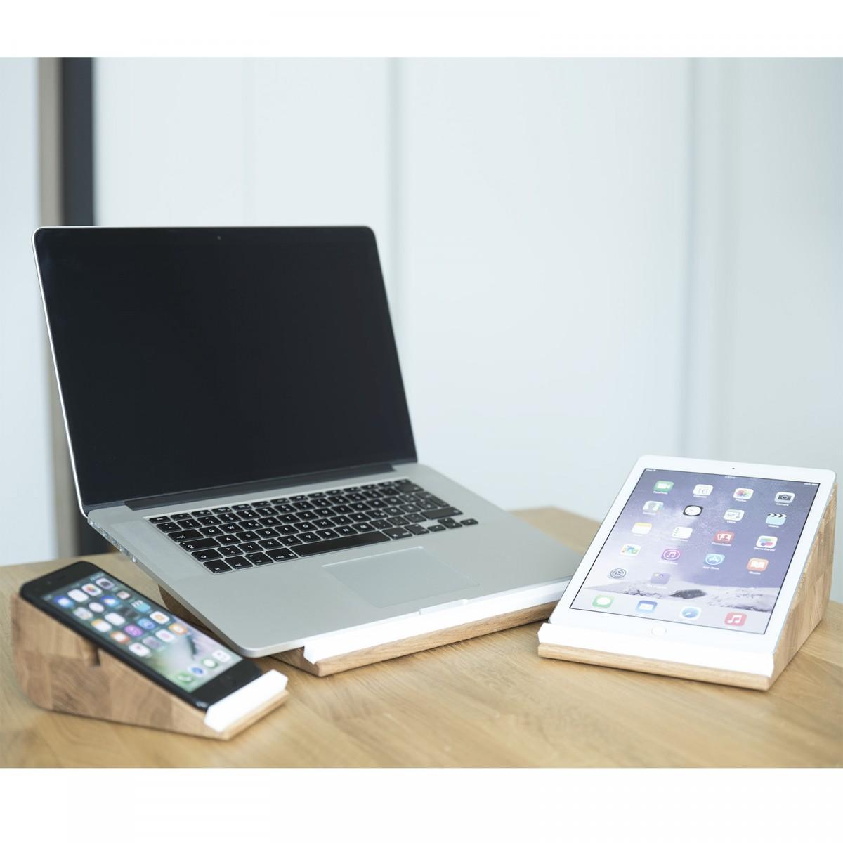 Notebook Halter ergonomio, Laptop Ständer aus Holz | Apple Macbook Stand
