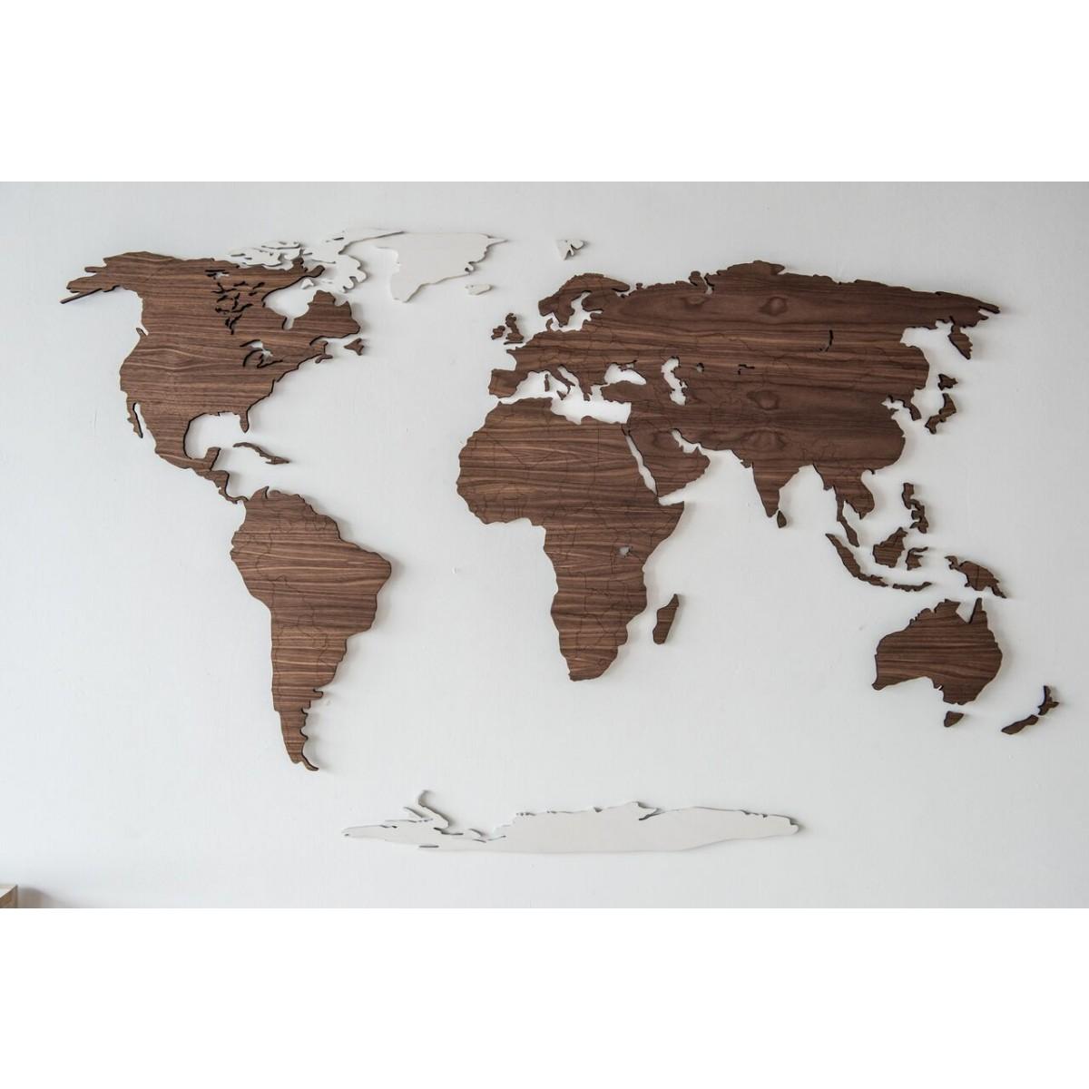 TERRA CASA -Weltkarte aus Holz