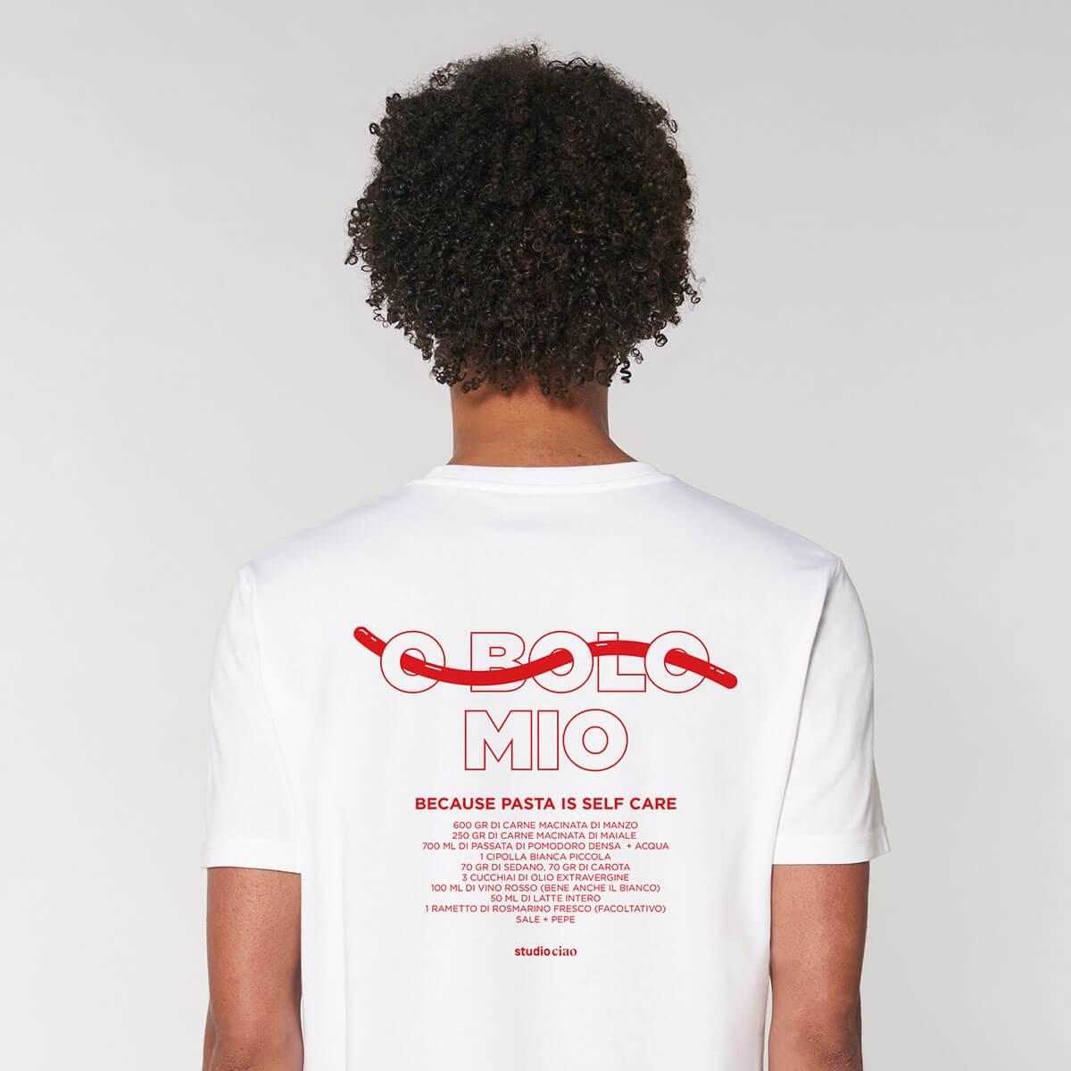 «O BOLO MIO» T-Shirt (unisex), weiss – studio ciao