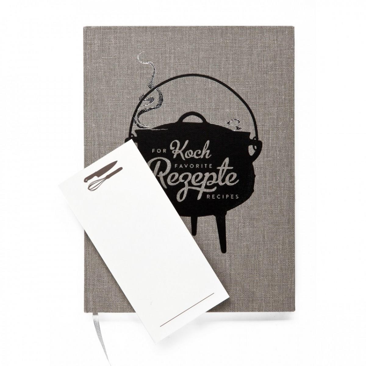Wednesday Paper Works - Kochbuch für Lieblingsrezepte mit Notizblock Notizbuch