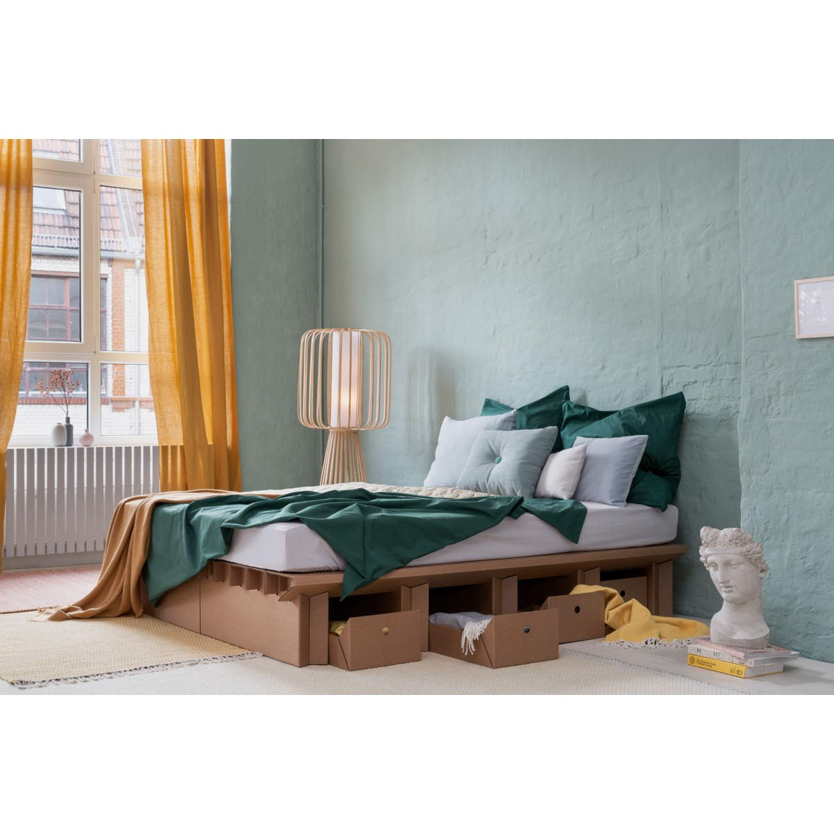 STANGE DESIGN Pappbett mit Bettkästen 165 cm DREAM