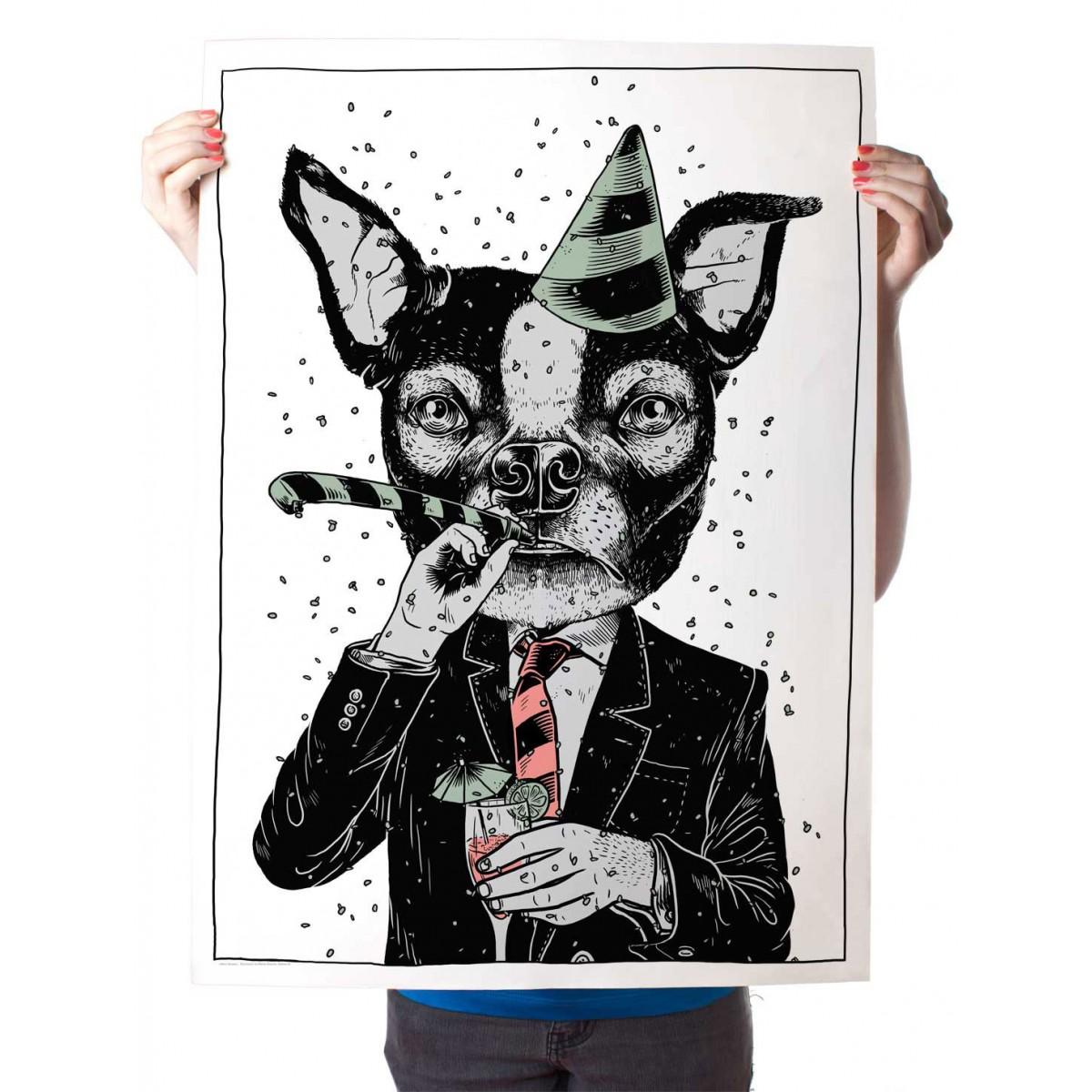 Martin Krusche – Poster »Partyanimal«, 50x70cm