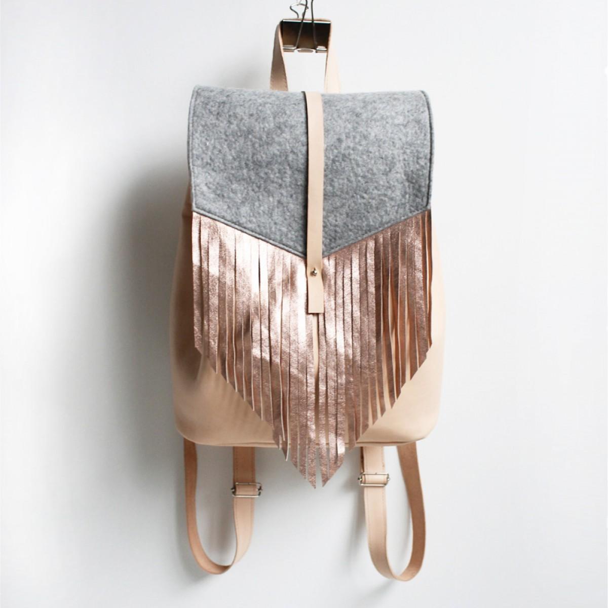 Grotkop Collection PASSAGIER Backpack natur/kupfer