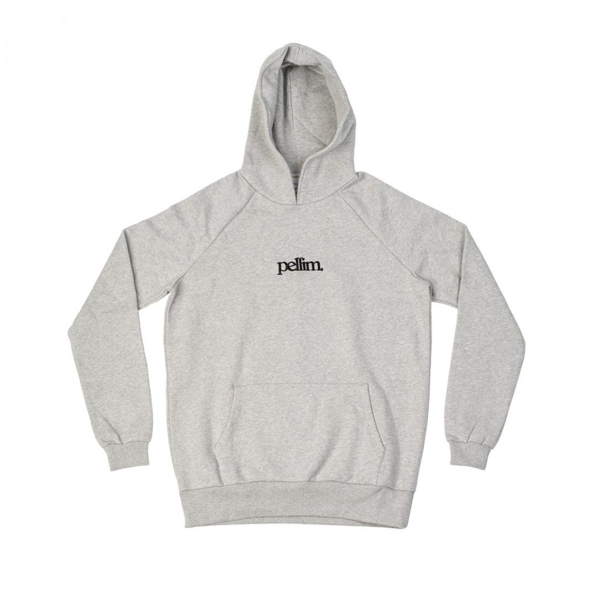 pellim. hoodie basic grau