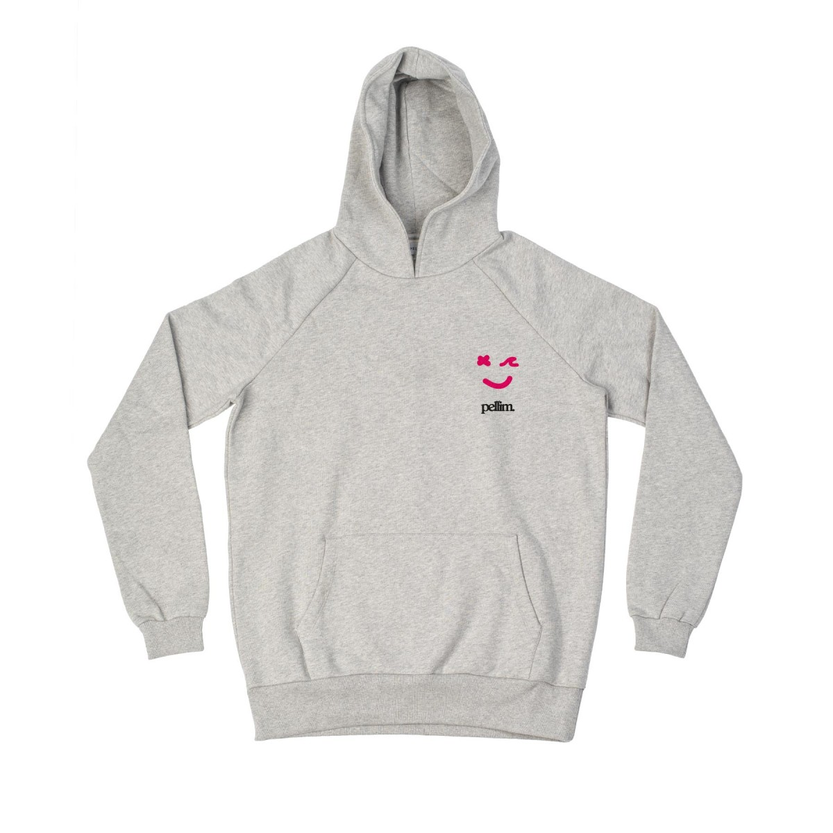 pellim. f*cking good vibes. hoodie grau