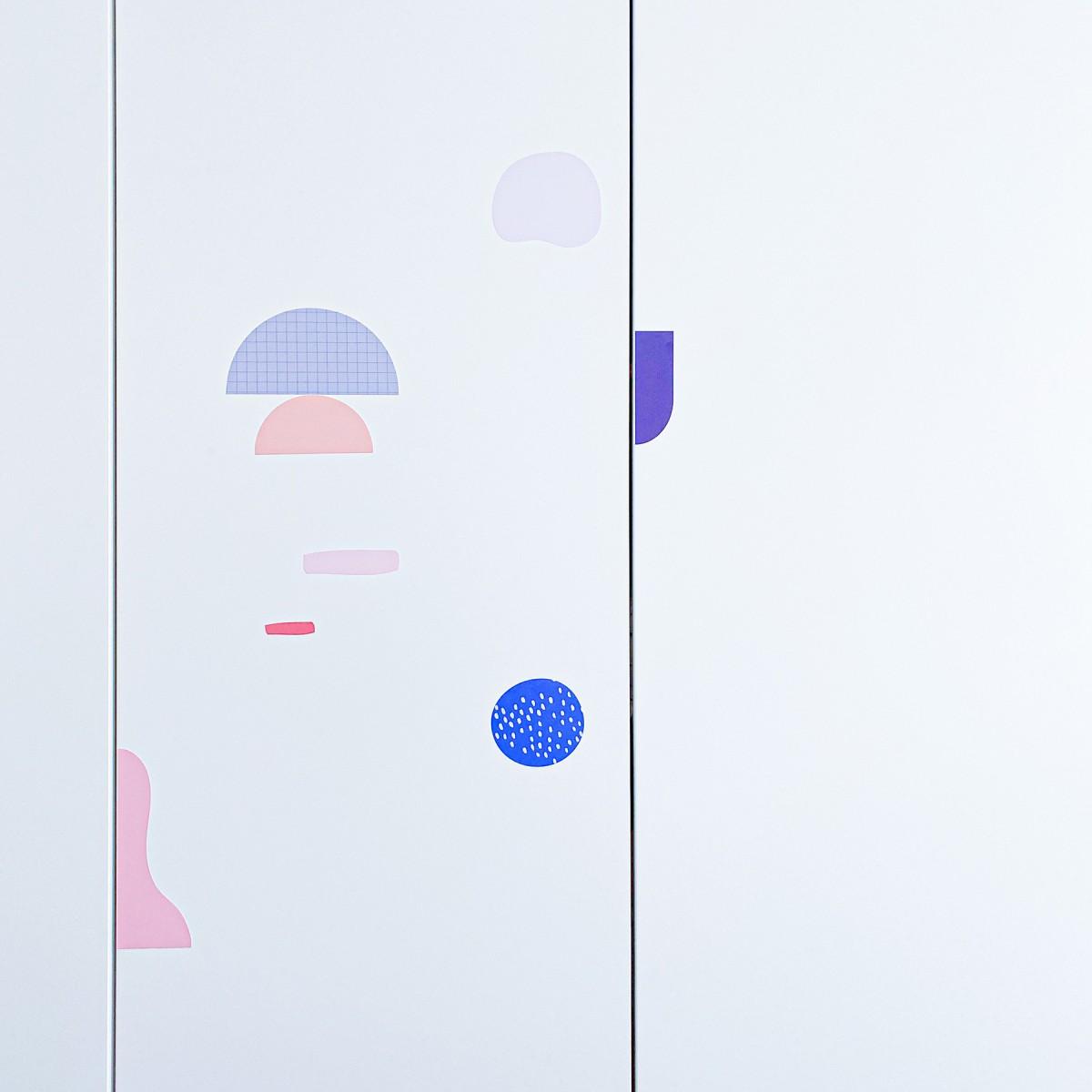 """Pimpad Sticker Set """"Shapes/Geo"""" (2 Bögen Aufkleber, umweltfreundlich, wiederverwendbar)"""