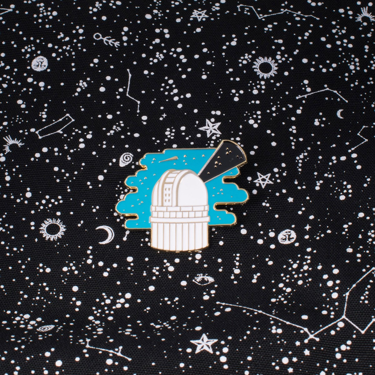 polypodium Emaille Pin - let´s explore the universe