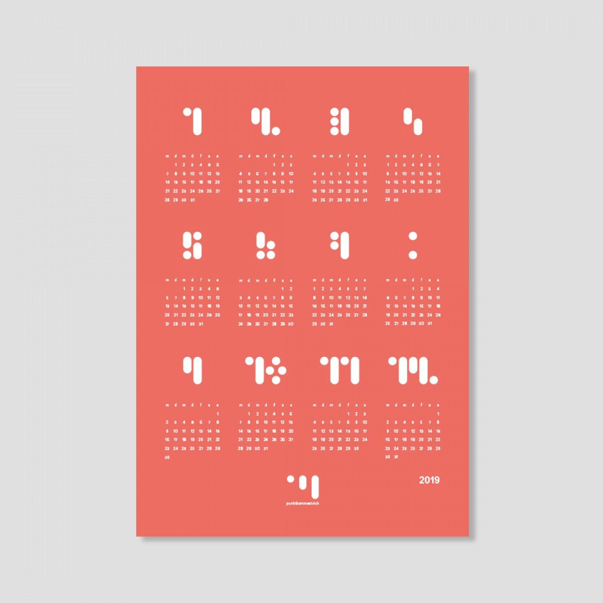 kalender 2019 living coral Designwandkalender