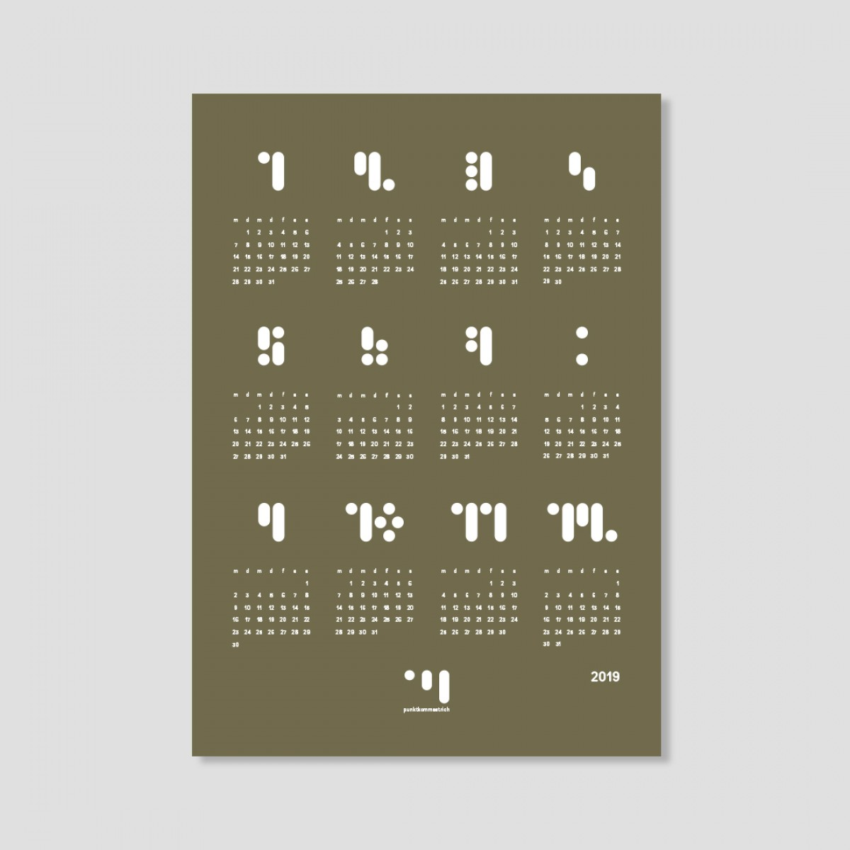 kalender 2019 martini olive Designwandkalender