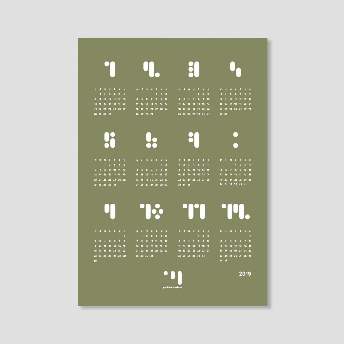 kalender 2019 moss stone Designwandkalender