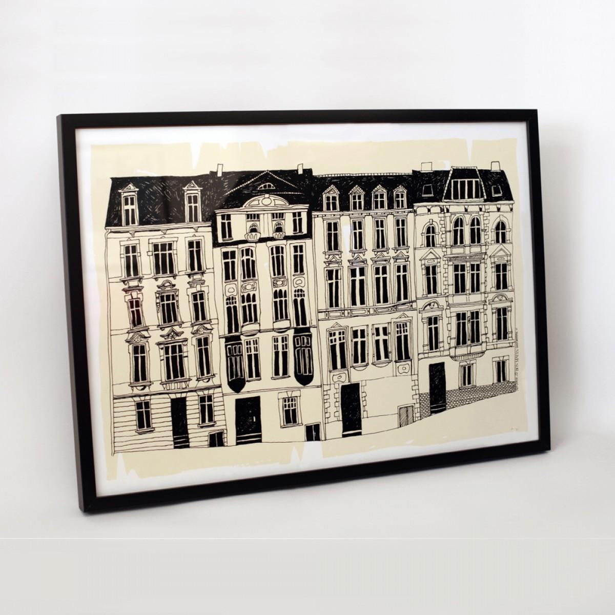 Bon Matin La Rue No. 1 Siebdruckplakat