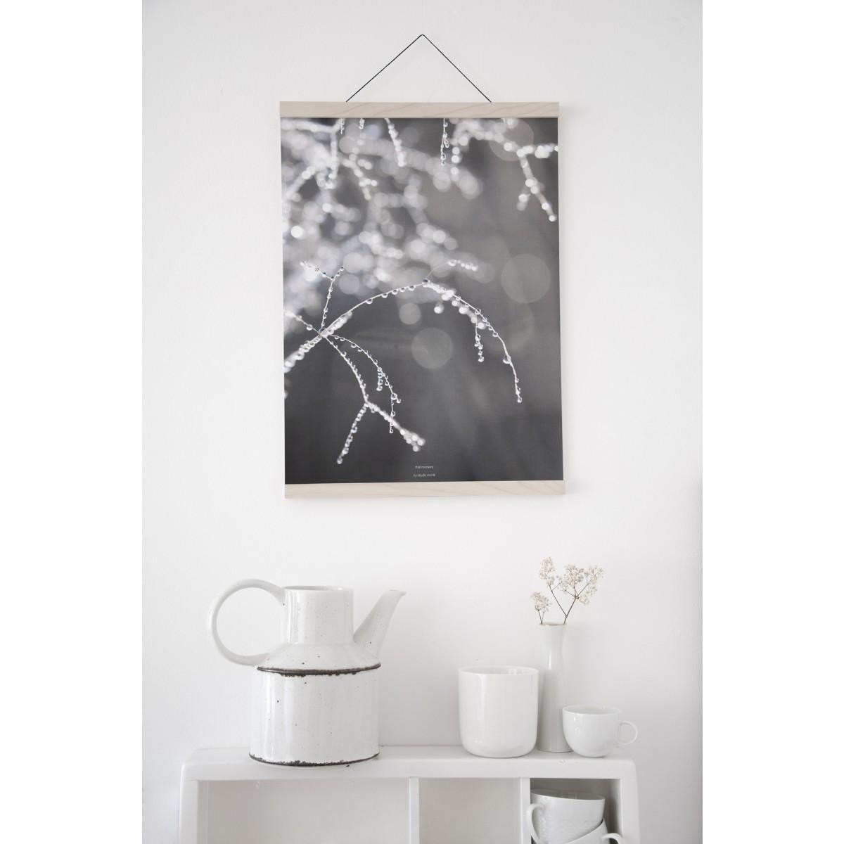 na.hili magnetische Posterleiste, Click-on-FRAME, Rahmen A3, Ahorn, Eiche, Nuss