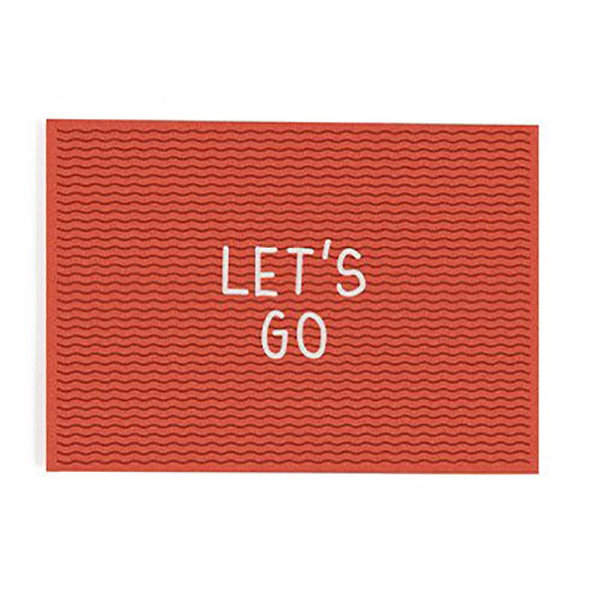 """Let's go"" Postkarte von Roadtyping"