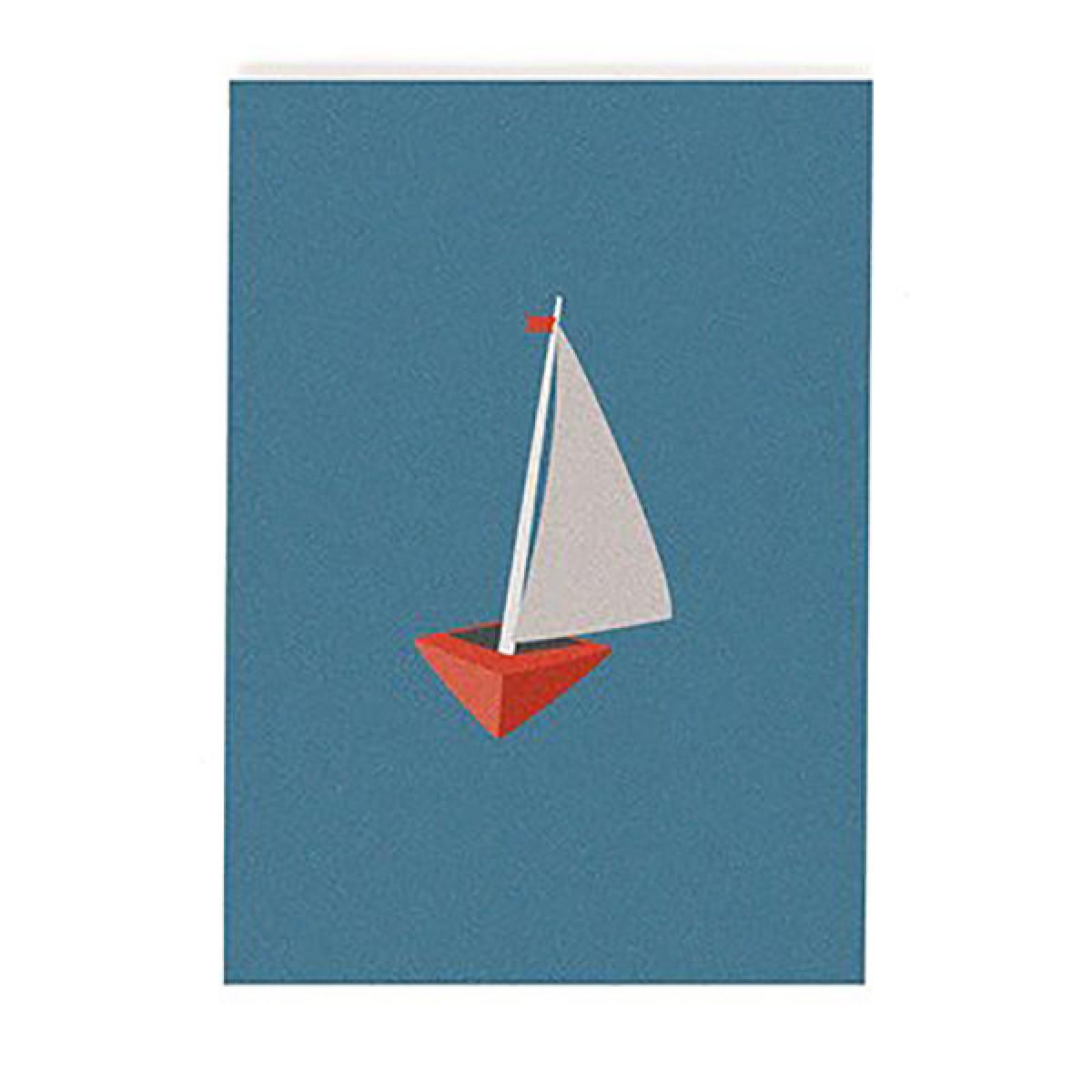 """""""Segelboot"""" Postkarte von Roadtyping"""