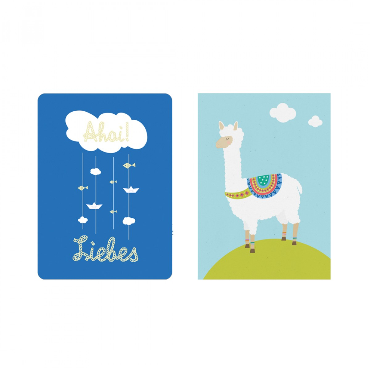 """Edith schmuckes Papier """"Zur Geburt - Postkarte Set"""" mit 2 Postkarten"""