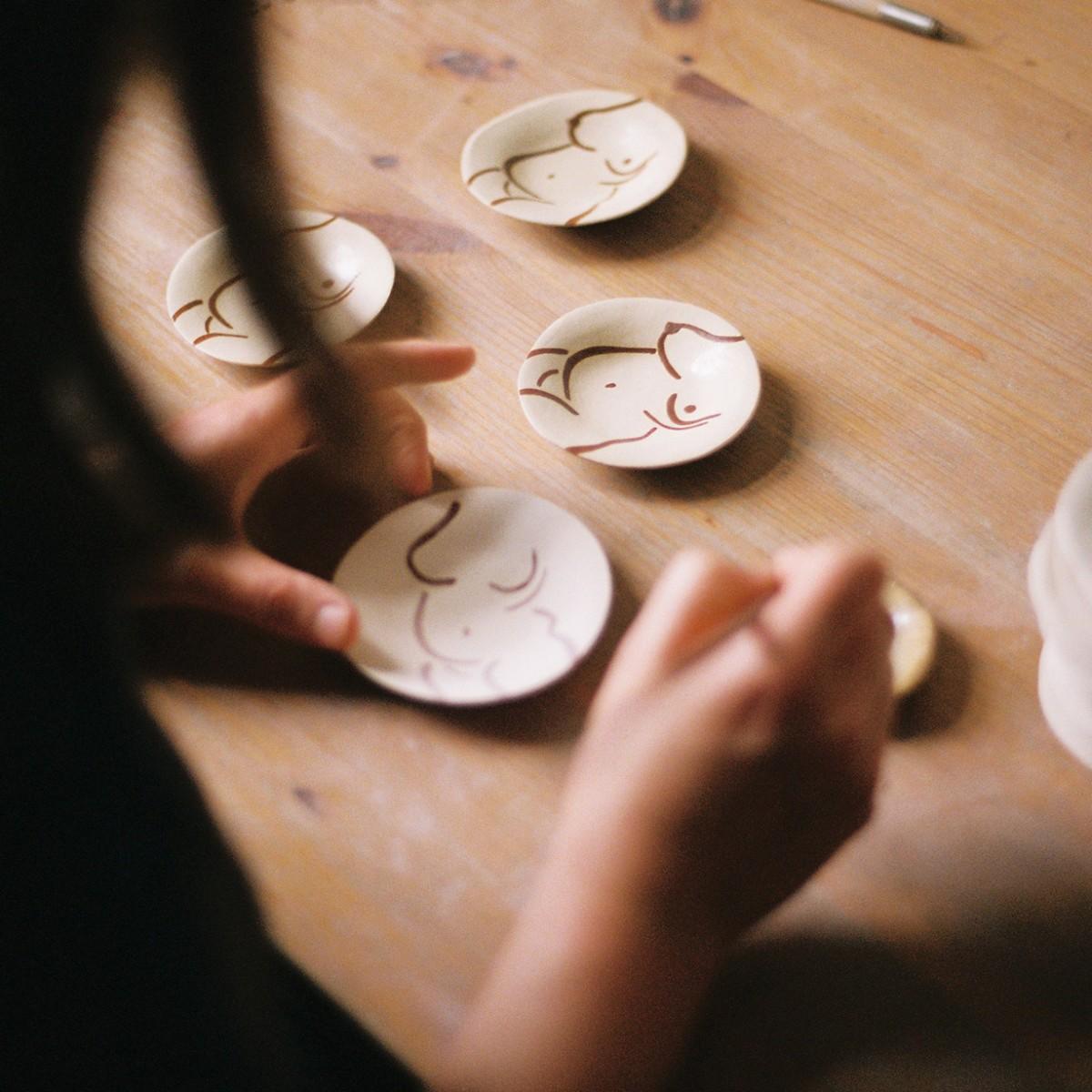 Power Pottery – Schmuckteller Yara (weißer Ton)