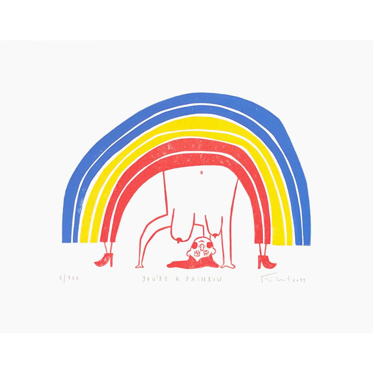 You're a Rainbow | Linolschnitt