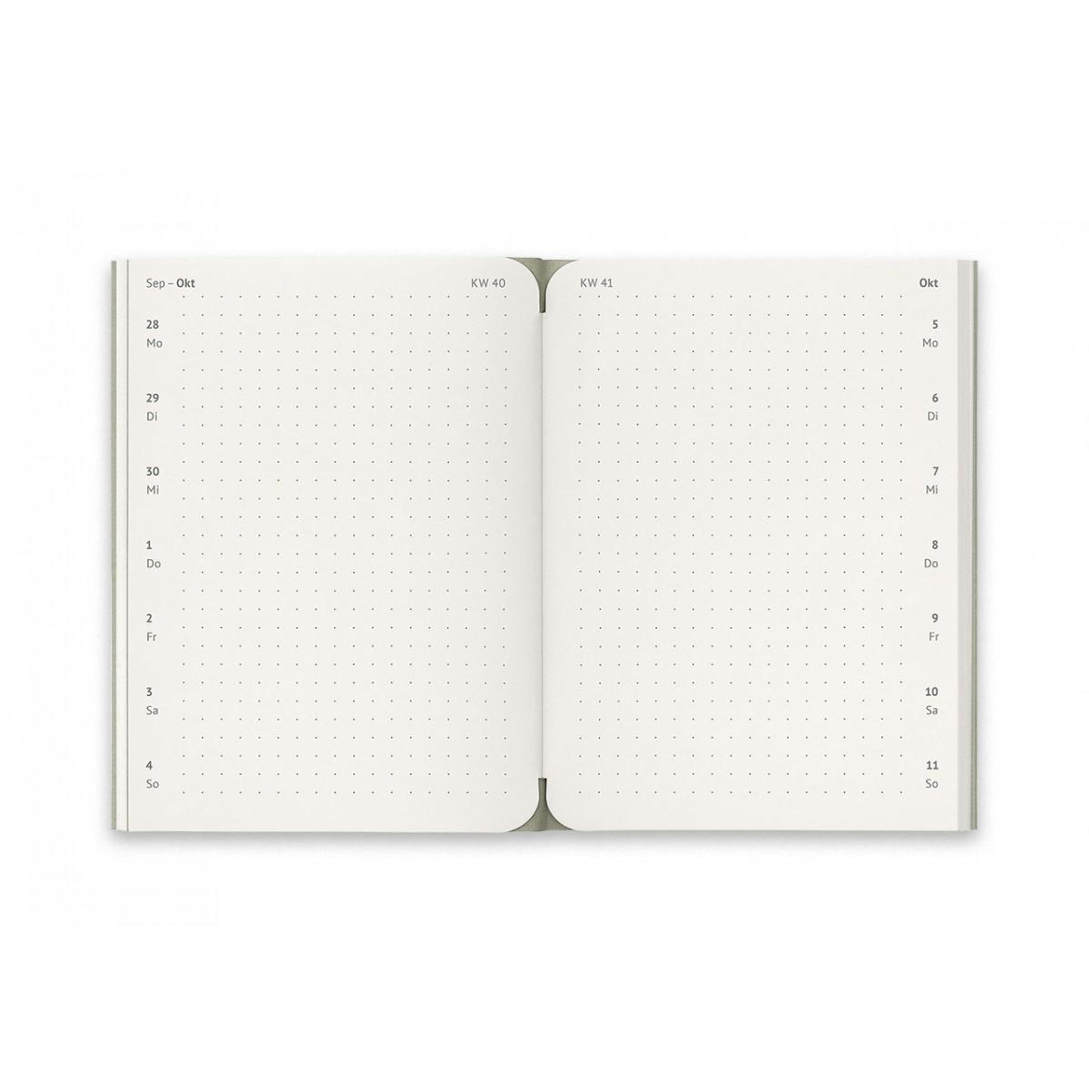 reinheft Notizkalender und Wochenplaner 2021 Größe M