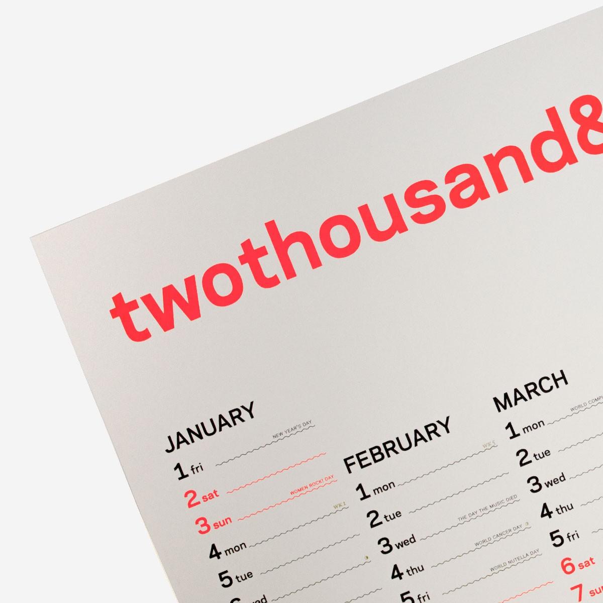 twothousand&twentyone – rikiki Wandkalender 2021 in english