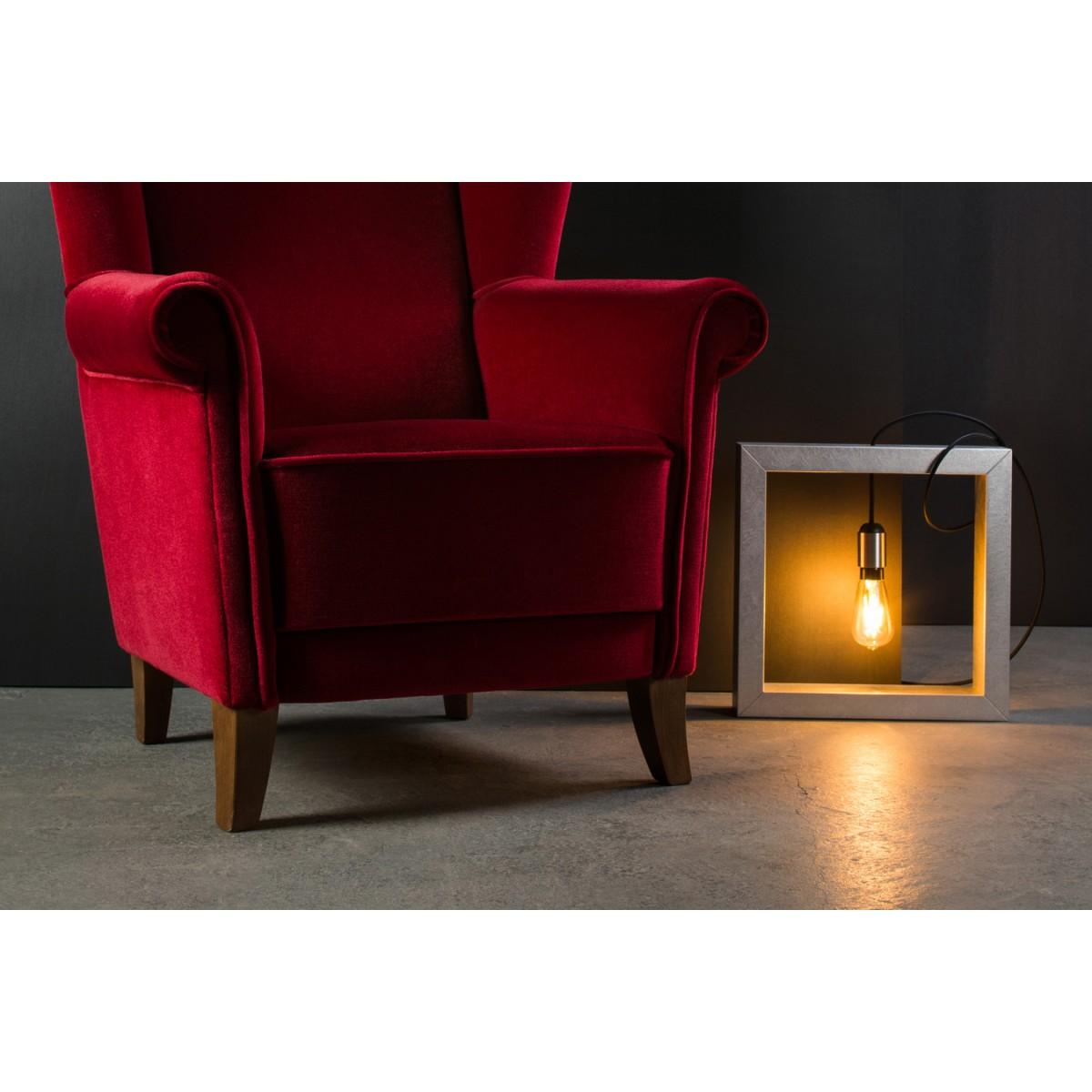 Lupadesign RINCON – Boden- und Regalleuchte, Holzleuchte - silber