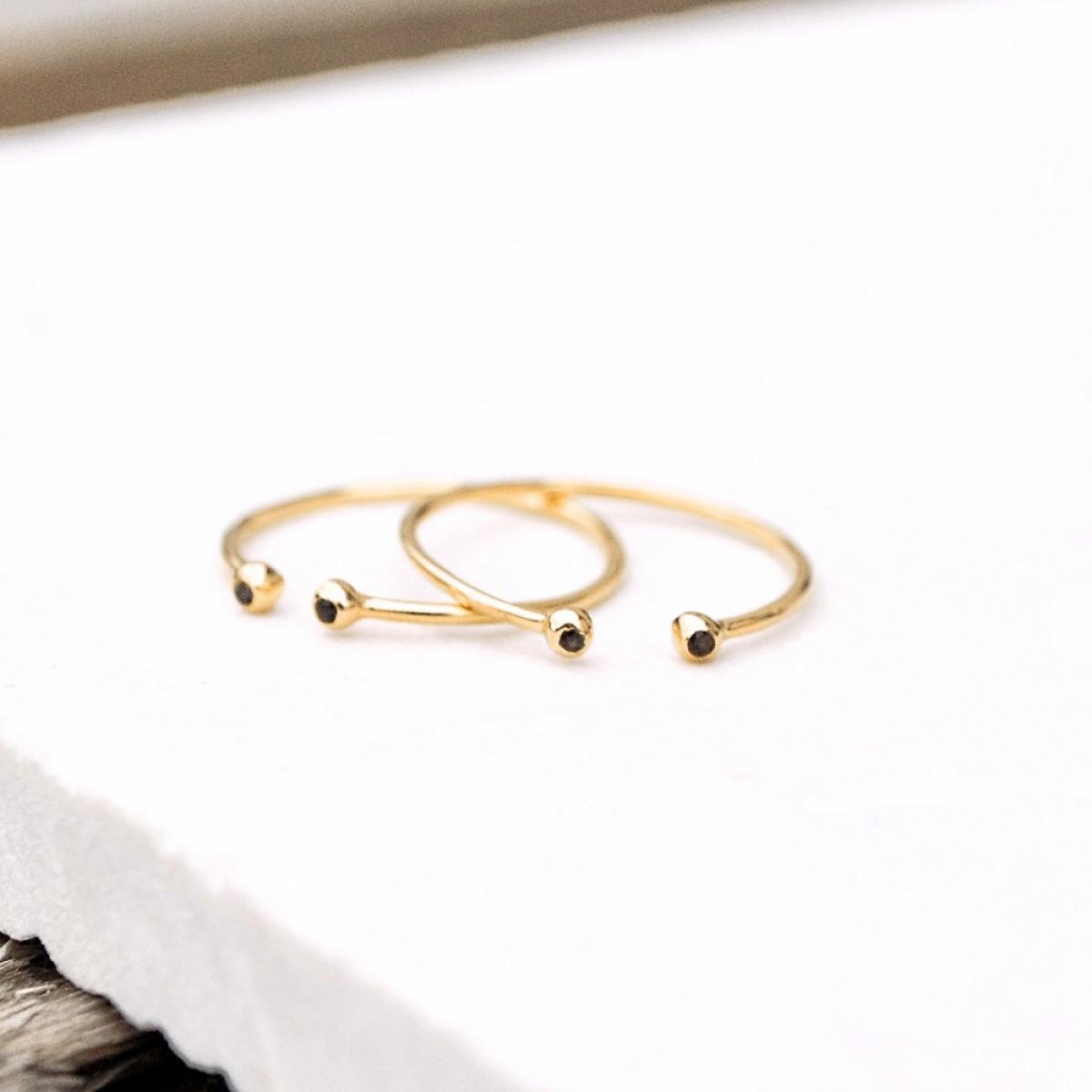 iloveblossom DOUBLE BUBBLE SMOKY RING // gold