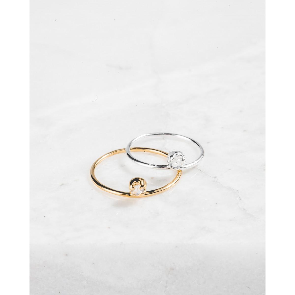 iloveblossom ICE DROP BABY RING // gold