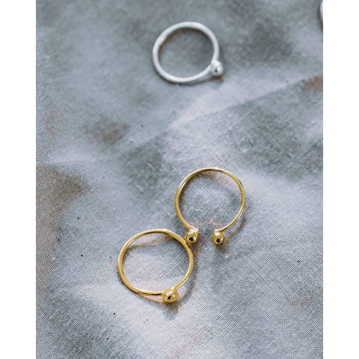 iloveblossom PEBBLE RING // silber