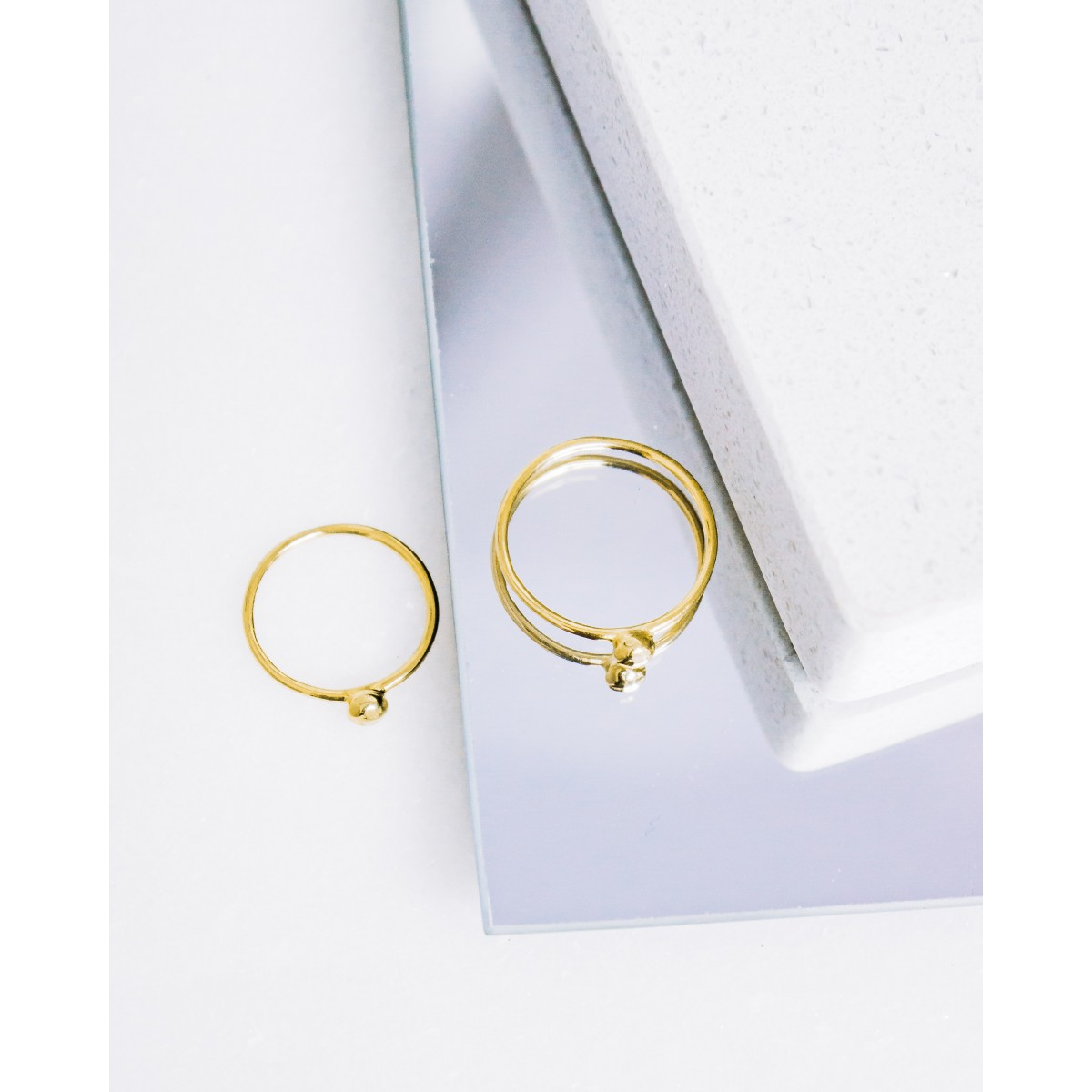 iloveblossom PEBBLE RING // gold