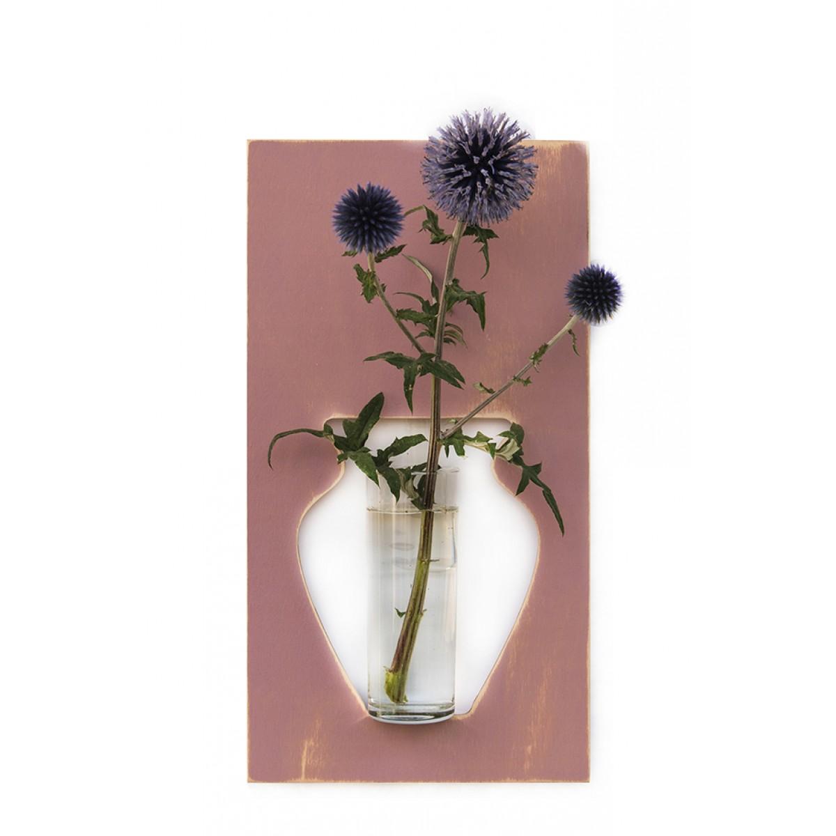Wandvase flortrait vintage altrosa