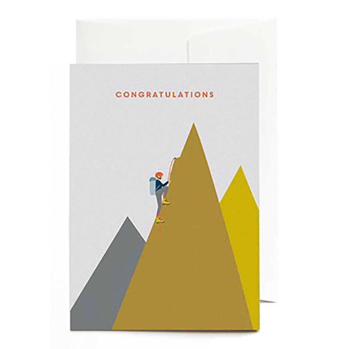 """""""Congratulations - Bergsteiger"""" Klappkarte von Roadtyping"""