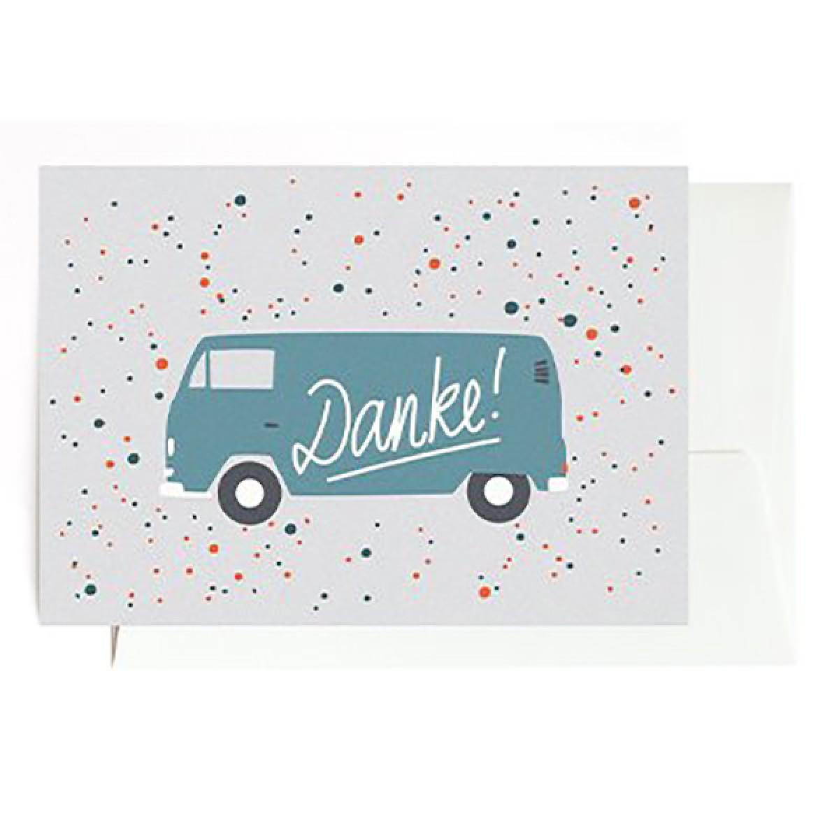 """Danke Bulli"" Klappkarte von Roadtyping"