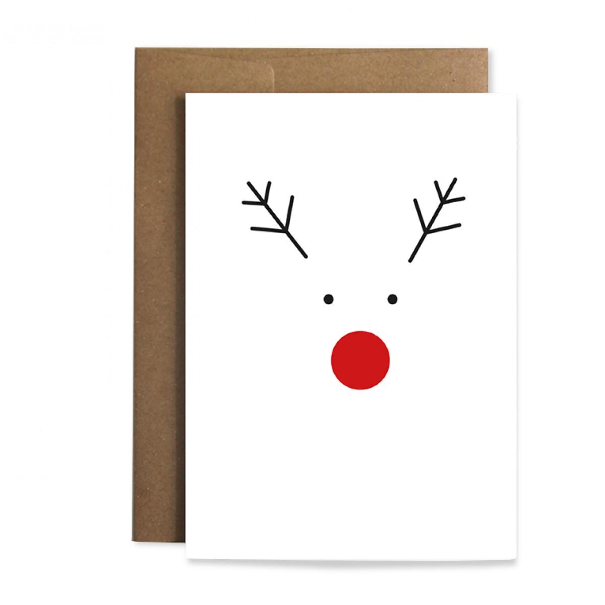 """Edith schmuckes Papier """"Rudi - Geschenkpapier Set"""" 2 Bögen Geschenkpapier und 1 Grußkarte mit Briefumschlag"""